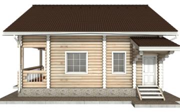 Фото #10: Красивый деревянный дом РС-47 из бревна
