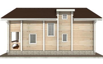 Фото #10: Красивый деревянный дом РС-48 из бревна