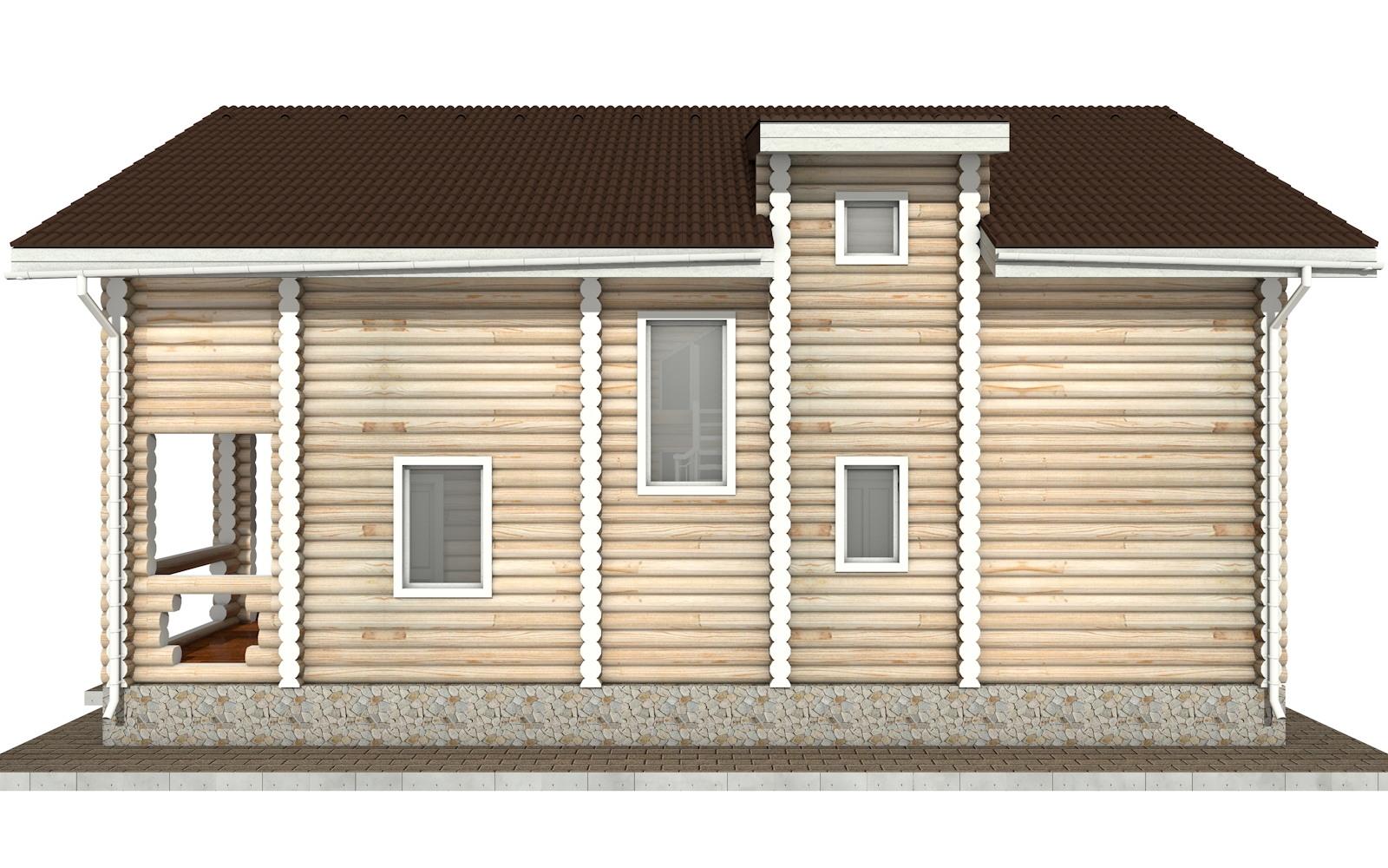 Фото #9: Красивый деревянный дом РС-48 из бревна