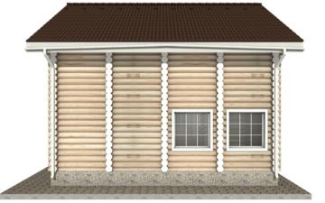 Фото #10: Красивый деревянный дом РС-6 из бревна