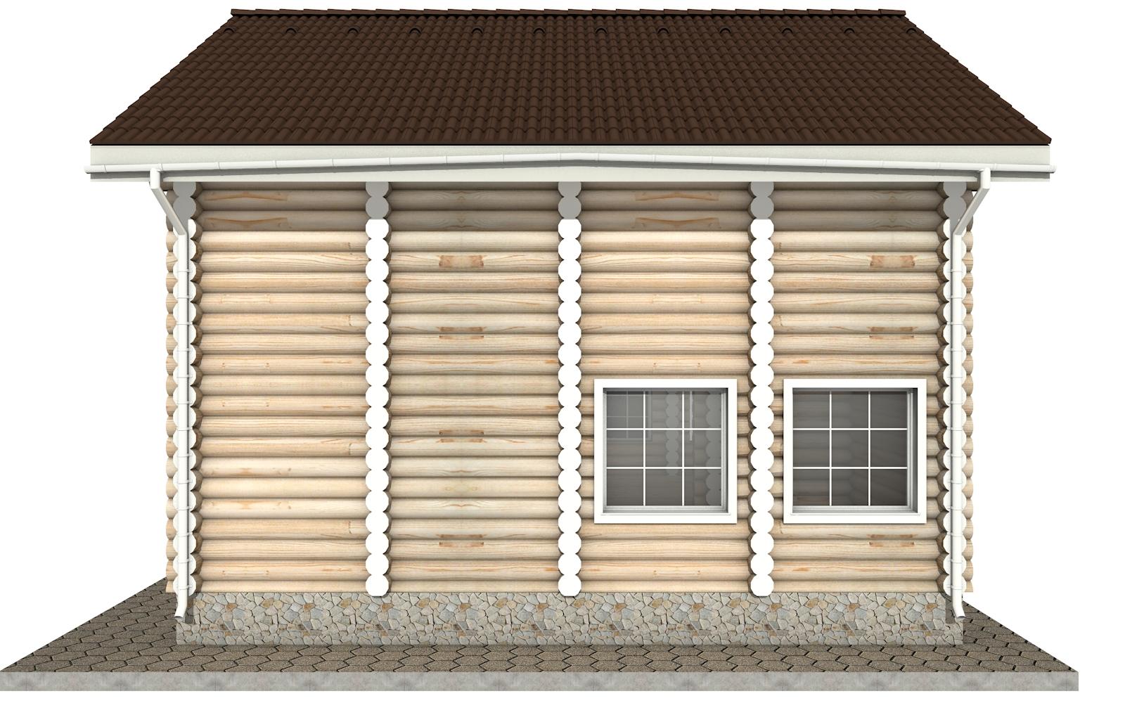 Фото #9: Красивый деревянный дом РС-6 из бревна