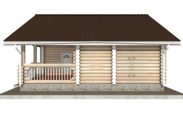 Фото #10: Красивый деревянный дом РС-51 из бревна