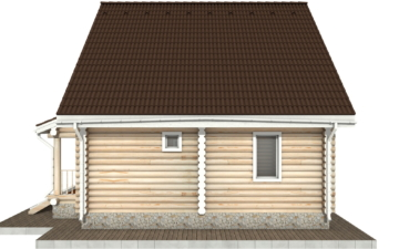 Фото #10: Красивый деревянный дом РС-52 из бревна