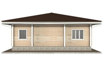 Фото #10: Красивый деревянный дом РС-53 из бревна
