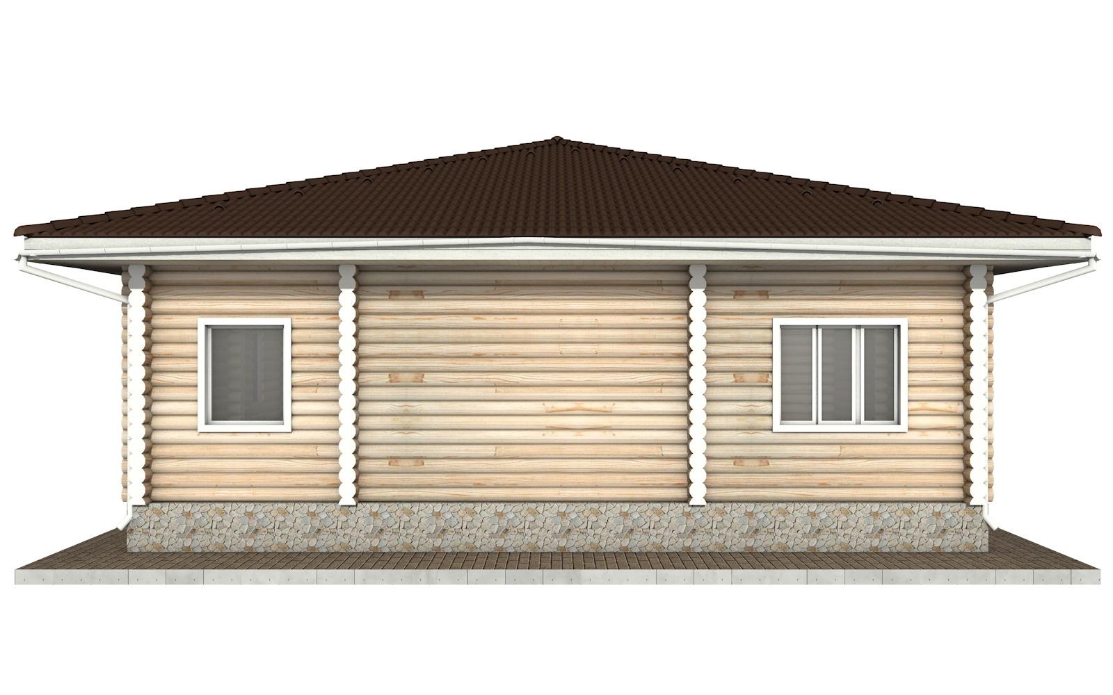 Фото #8: Красивый деревянный дом РС-53 из бревна