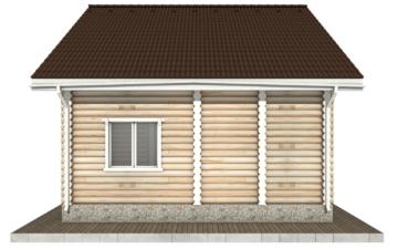 Фото #10: Красивый деревянный дом РС-54 из бревна