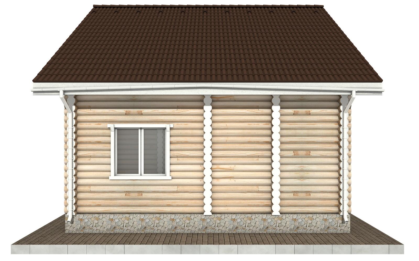 Фото #9: Красивый деревянный дом РС-54 из бревна