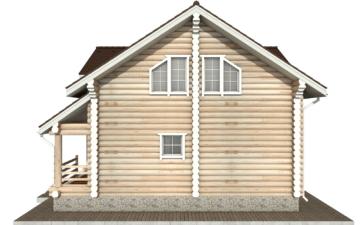 Фото #10: Красивый деревянный дом РС-55 из бревна