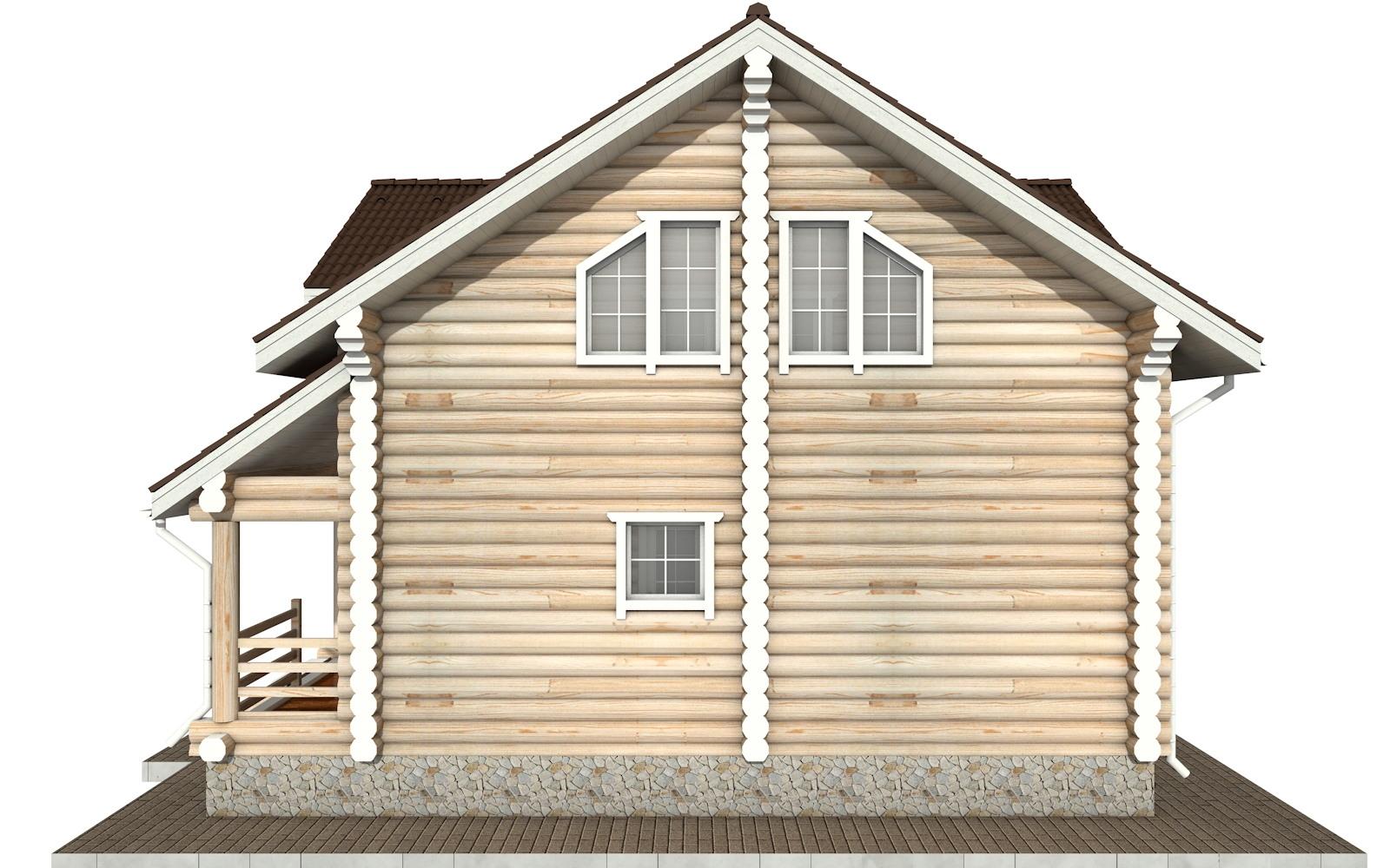 Фото #9: Красивый деревянный дом РС-55 из бревна