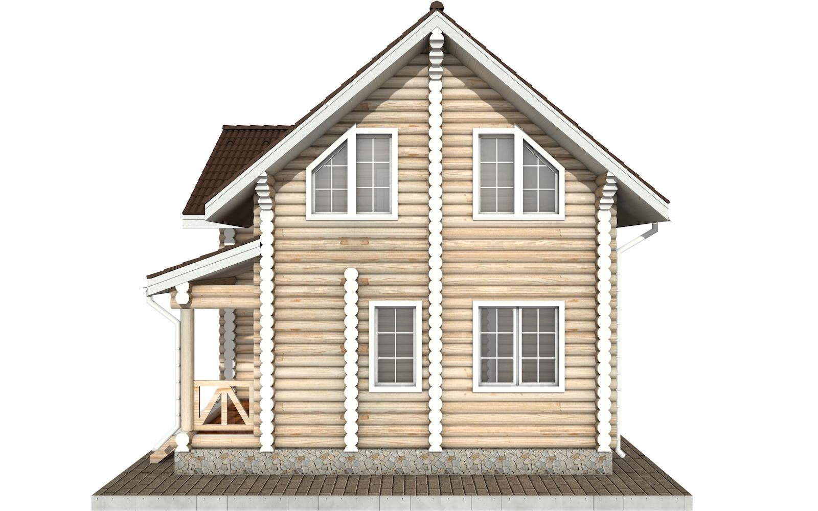 Фото #9: Красивый деревянный дом РС-57 из бревна