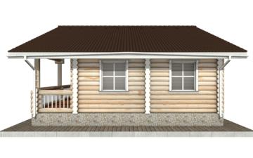 Фото #10: Красивый деревянный дом РС-58 из бревна