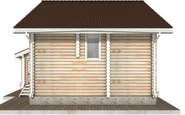 Фото #10: Красивый деревянный дом РС-59 из бревна
