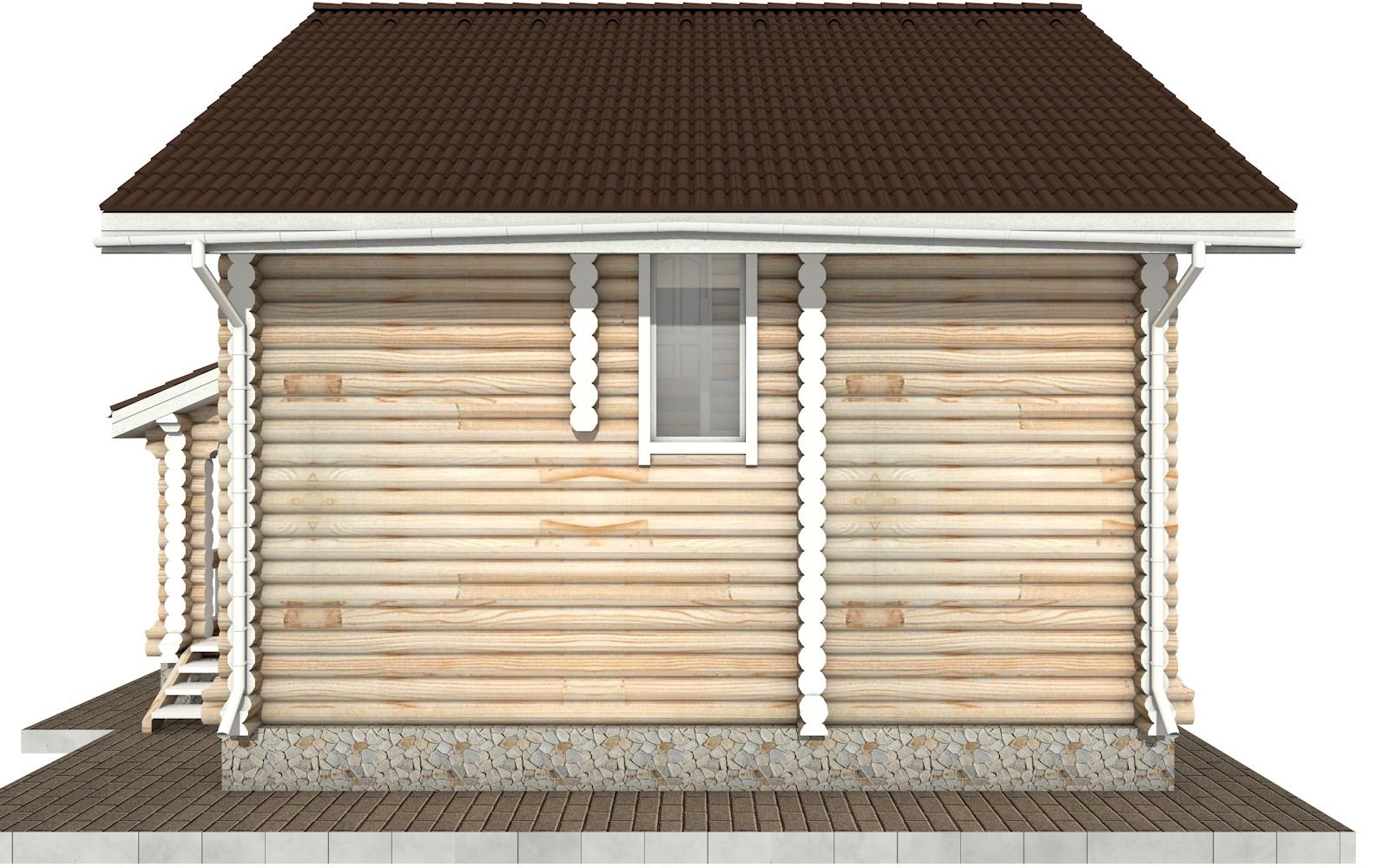 Фото #9: Красивый деревянный дом РС-59 из бревна