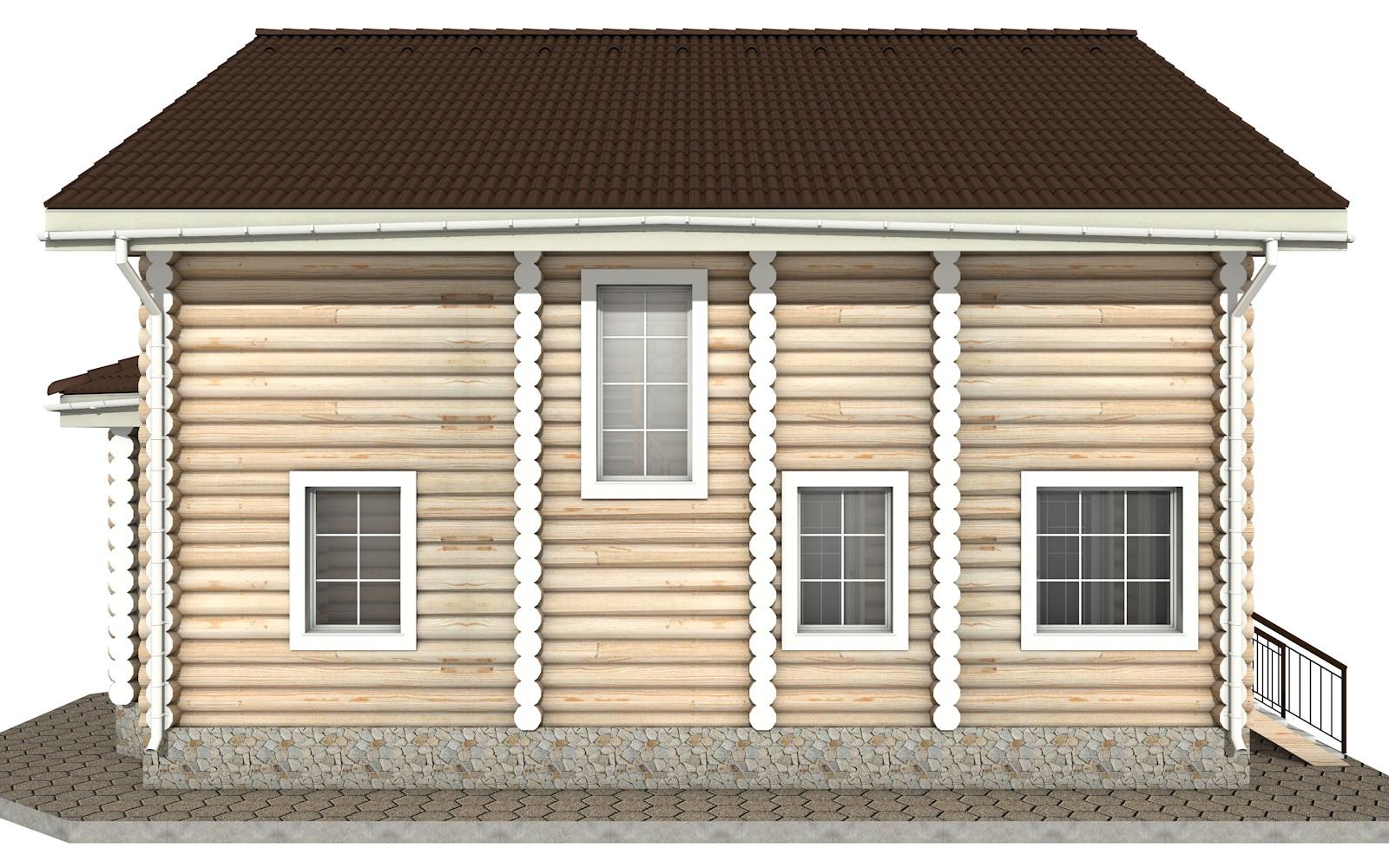 Фото #9: Красивый деревянный дом РС-7 из бревна