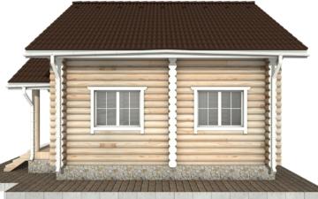 Фото #10: Красивый деревянный дом РС-61 из бревна