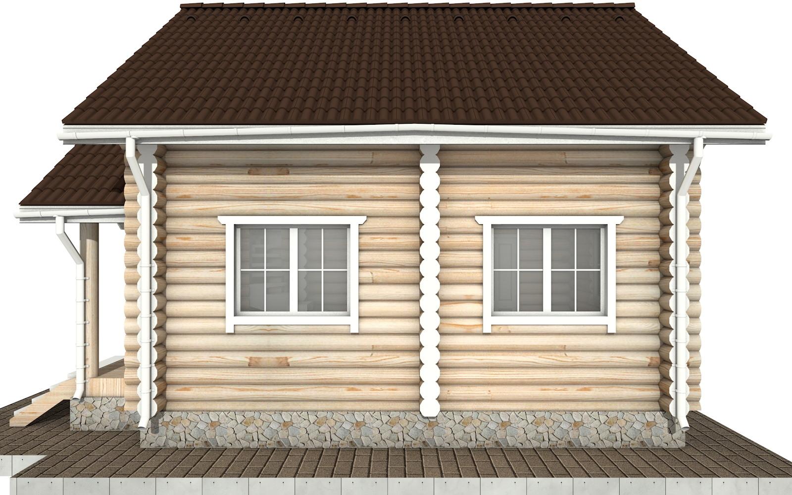 Фото #9: Красивый деревянный дом РС-61 из бревна