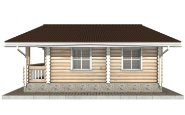 Фото #10: Красивый деревянный дом РС-62 из бревна