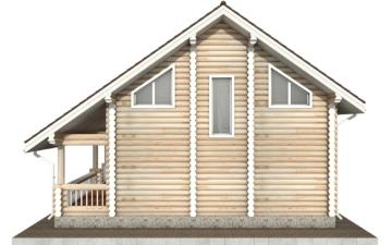 Фото #10: Красивый деревянный дом РС-63 из бревна