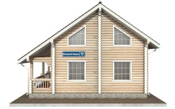 Фото #10: Красивый деревянный дом РС-64 из бревна