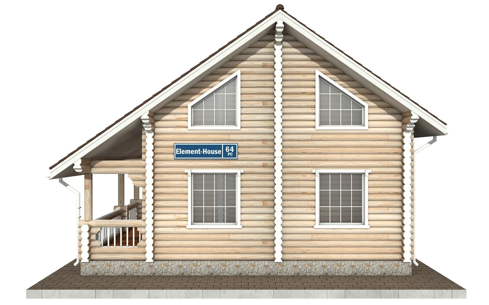 Фото #9: Красивый деревянный дом РС-64 из бревна