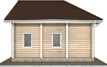 Фото #10: Красивый деревянный дом РС-65 из бревна