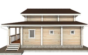 Фото #10: Красивый деревянный дом РС-66 из бревна