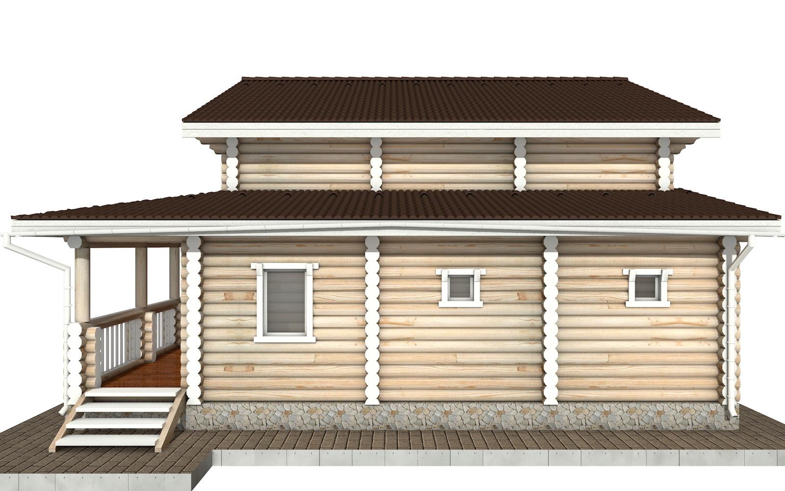 Фото #9: Красивый деревянный дом РС-66 из бревна