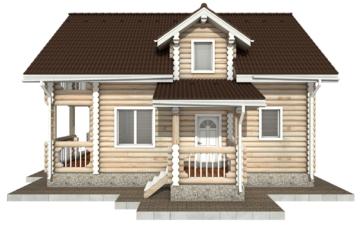 Фото #10: Красивый деревянный дом РС-67 из бревна