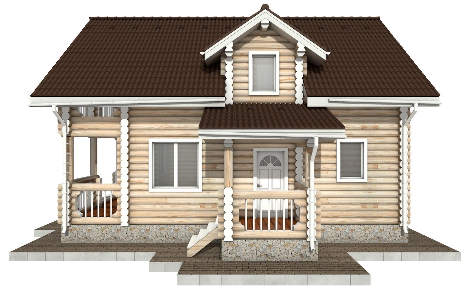 Фото #9: Красивый деревянный дом РС-67 из бревна