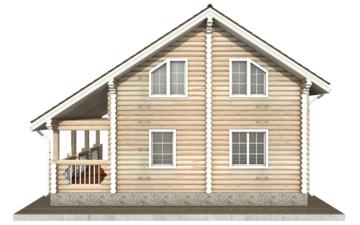 Фото #10: Красивый деревянный дом РС-68 из бревна