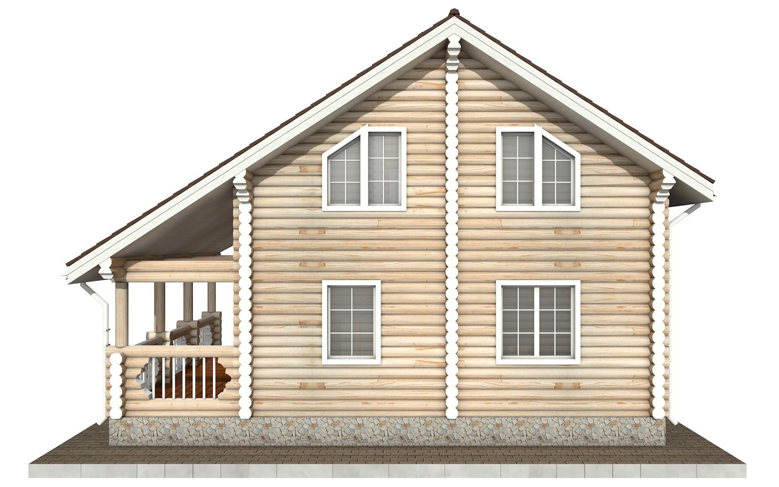 Фото #9: Красивый деревянный дом РС-68 из бревна