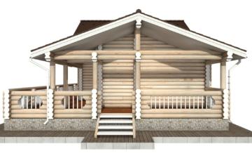Фото #10: Красивый деревянный дом РС-69 из бревна