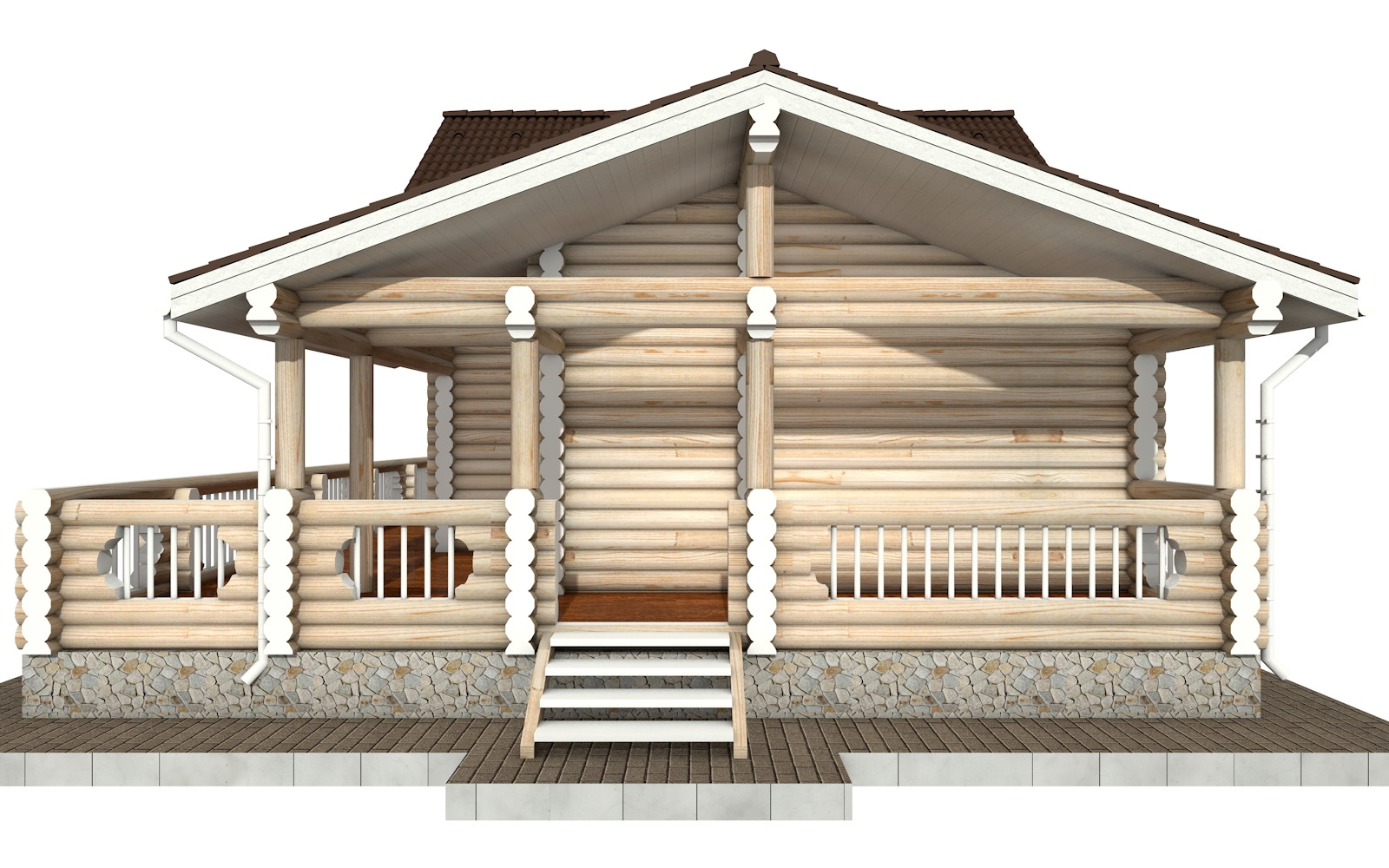Фото #9: Красивый деревянный дом РС-69 из бревна