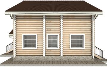 Фото #10: Красивый деревянный дом РС-8 из бревна