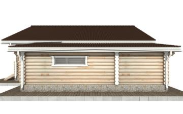 Фото #10: Красивый деревянный дом РС-70 из бревна