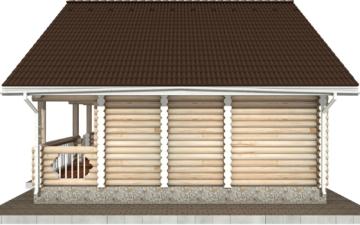 Фото #10: Красивый деревянный дом РС-71 из бревна