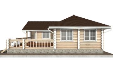Фото #10: Красивый деревянный дом РС-72 из бревна