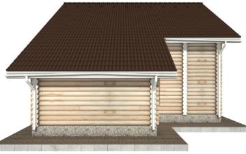 Фото #10: Красивый деревянный дом РС-73 из бревна