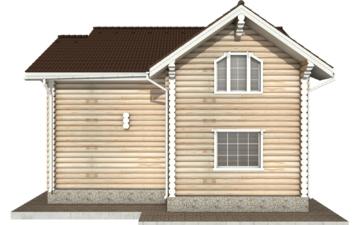 Фото #10: Красивый деревянный дом РС-74 из бревна