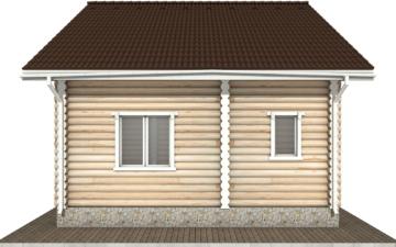 Фото #10: Красивый деревянный дом РС-75 из бревна