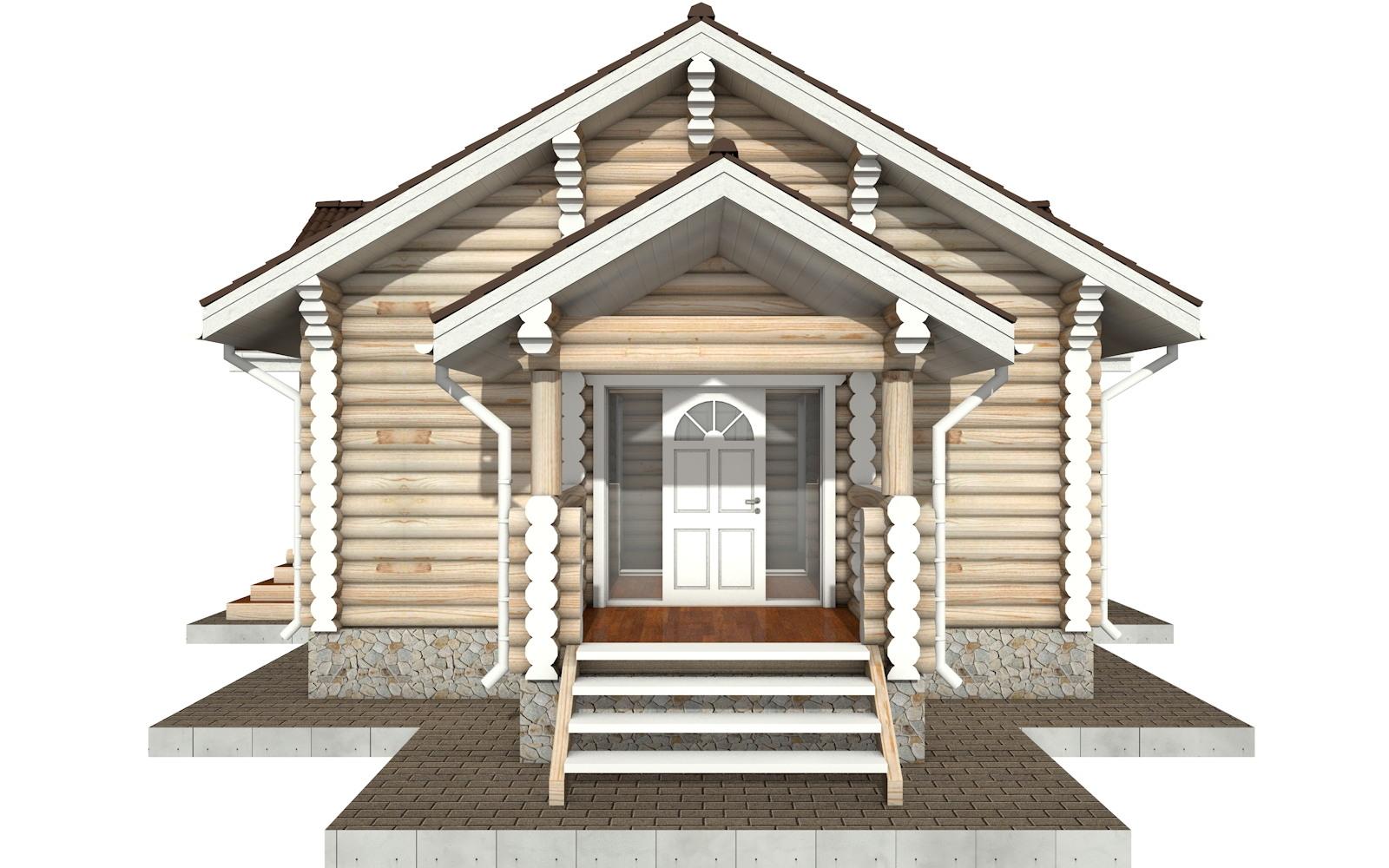 Фото #8: Красивый деревянный дом РС-77 из бревна