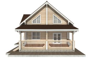 Фото #10: Красивый деревянный дом РС-78 из бревна
