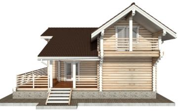 Фото #10: Красивый деревянный дом РС-79 из бревна