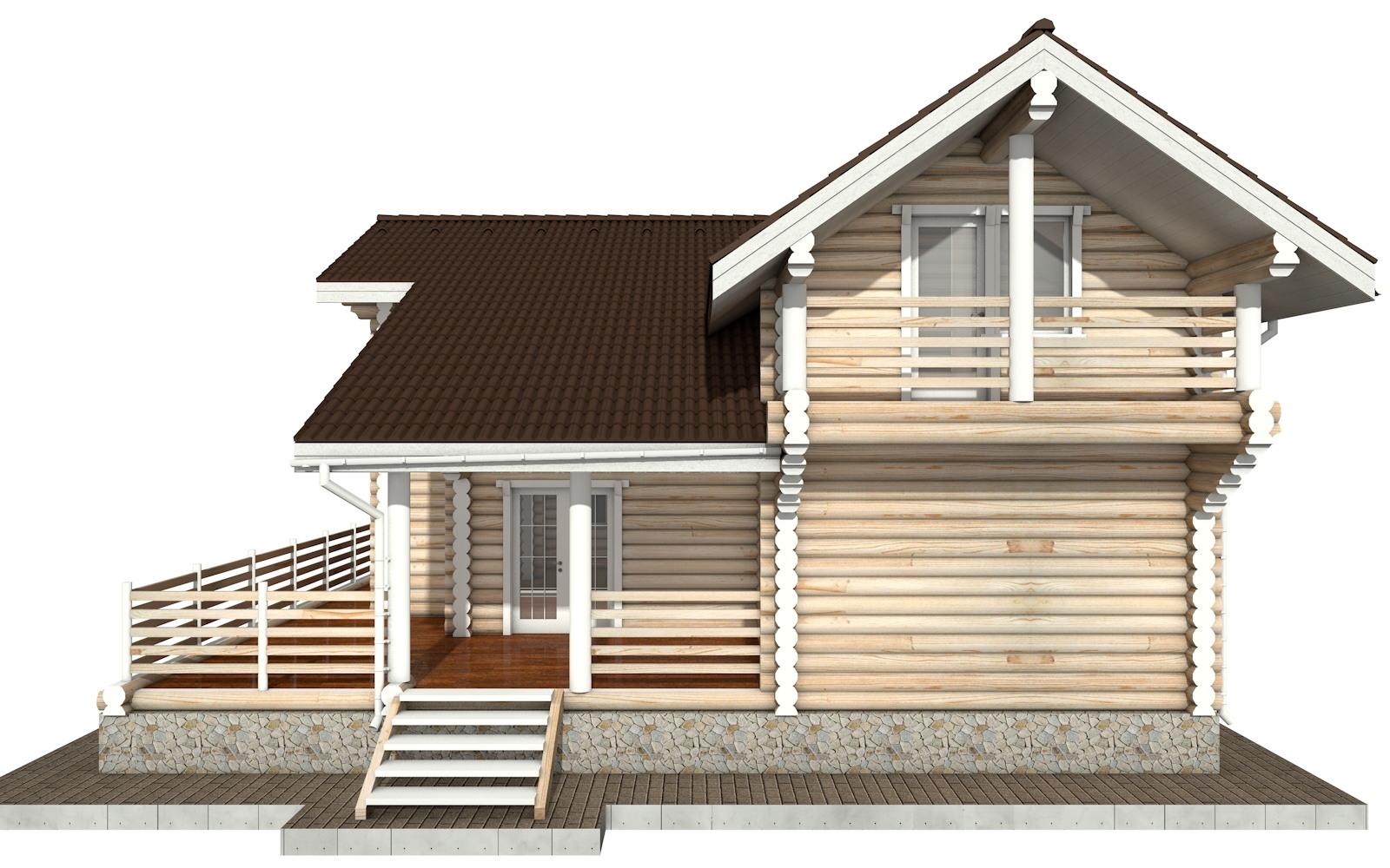 Фото #9: Красивый деревянный дом РС-79 из бревна