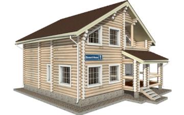 Фото #1: Красивый деревянный дом РС-9 из бревна