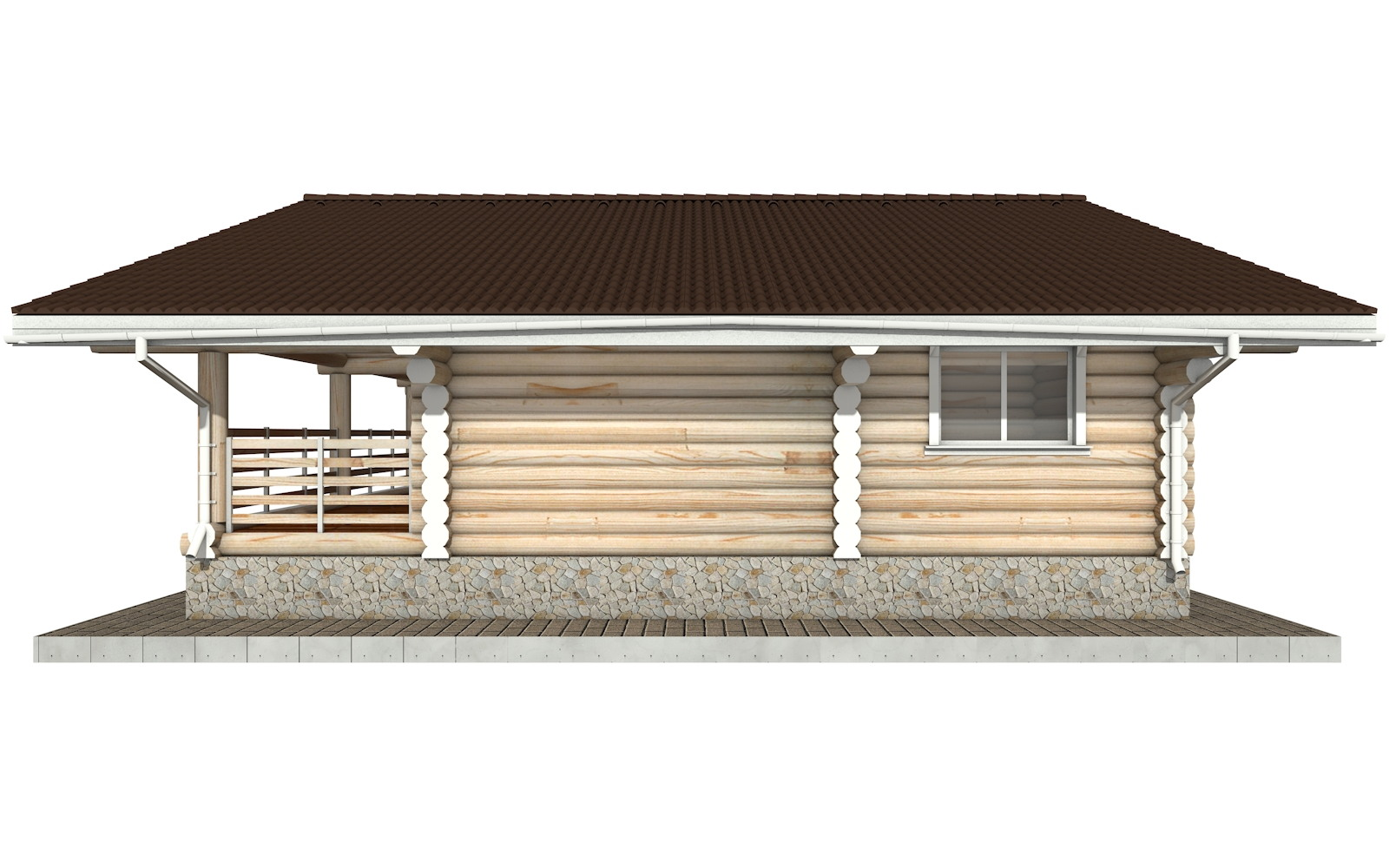 Фото #8: Красивый деревянный дом РС-80 из бревна