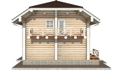 Фото #10: Красивый деревянный дом РС-81 из бревна
