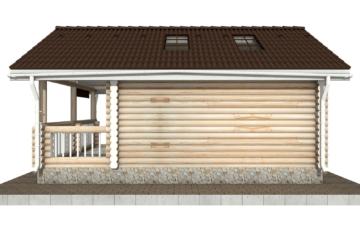 Фото #10: Красивый деревянный дом РС-82 из бревна
