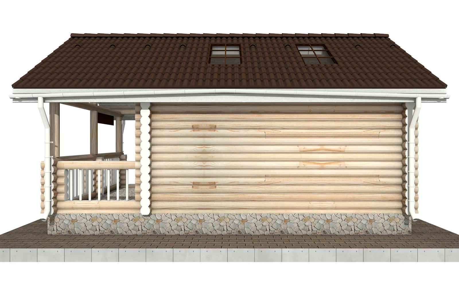 Фото #8: Красивый деревянный дом РС-82 из бревна