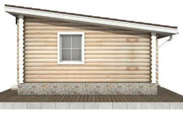 Фото #10: Красивый деревянный дом РС-83 из бревна